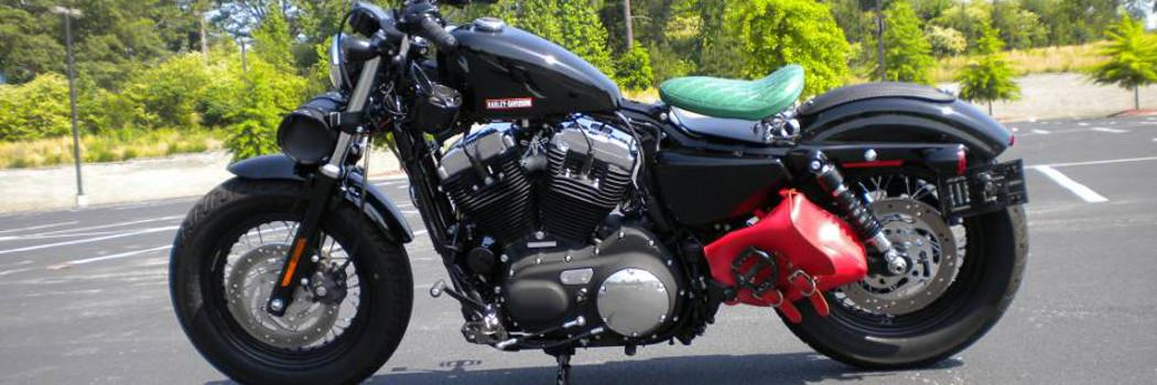 Harley Davidson Sportster with Green Seat