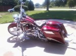 Red Bagger with tribal inlayed Solo Seat