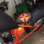Custom Maltese Cross Spring Seat BSA Bobber