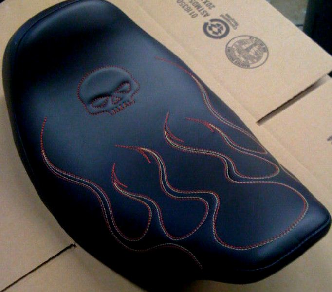 FXR Seat Devil Tail Flames Skull