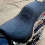 Skull and Flames Gunfighter Seat