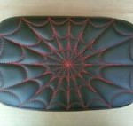Softail Passenger Pillion Pad Spider Web Red