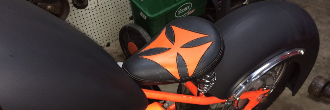 BSA Chopper (black and orange Maltese cross)