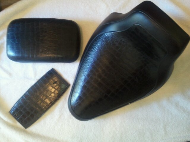 Softail Solo Seat P Pad and Dash Cover