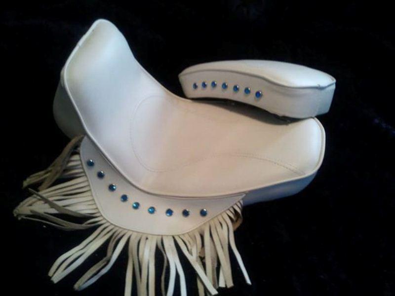 Rigid White Seat and Pillion