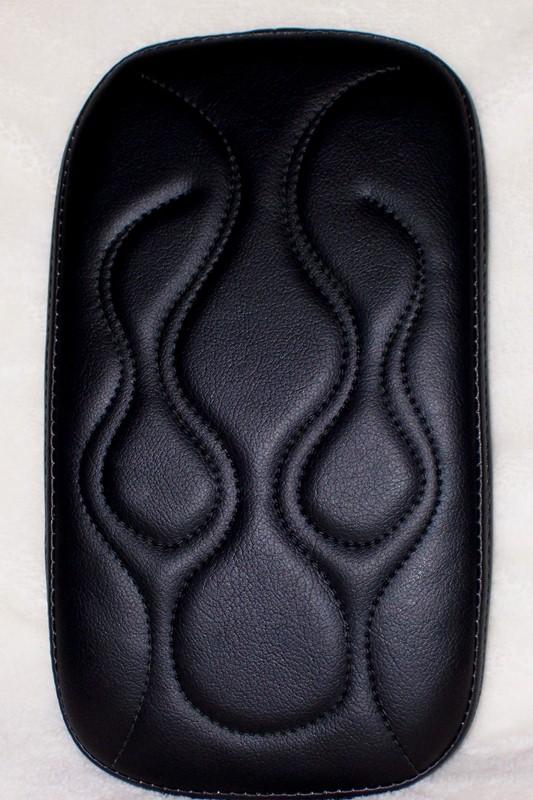 Harley Passenger Pad Black Flame Stitch
