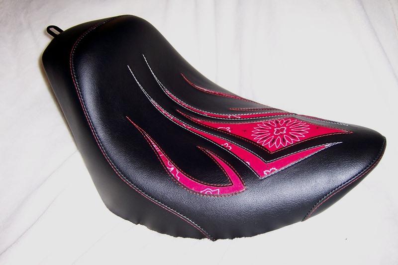 Tribal Red Bandana Seat Crossbones